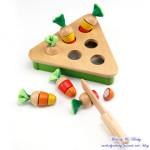 [PlayMe] 拔蘿蔔對對樂 顏色配對遊戲與扮演玩具 好好玩