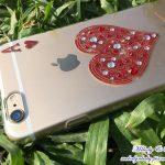 [體驗] apbs® 施華洛世奇 iPhone 6 plus 手機鑽殼 性感紅心A閃耀奪目
